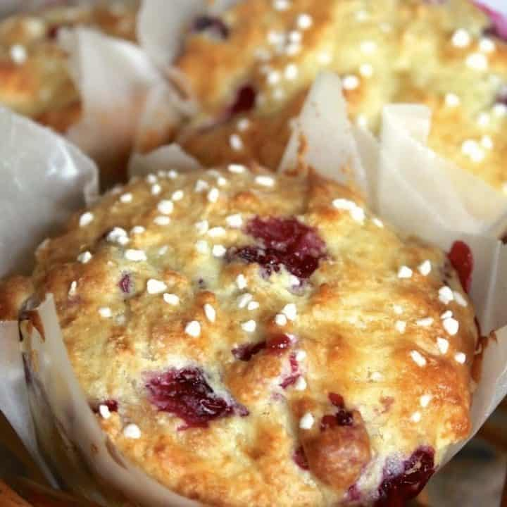 Homemade Cranberry and Orange Yogurt Muffins
