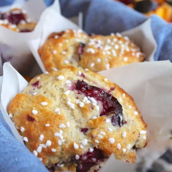 Perfect Plum Muffins (made with yogurt)...don't knock 'em till you try 'em!