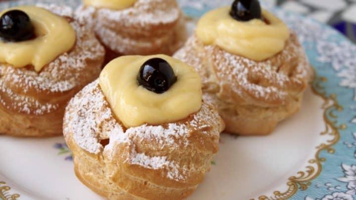Zeppole Di San Giuseppe St Joseph S Day Traditional Italian Pastries Christina S Cucina