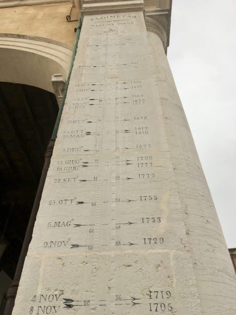 Ferrara's flood column
