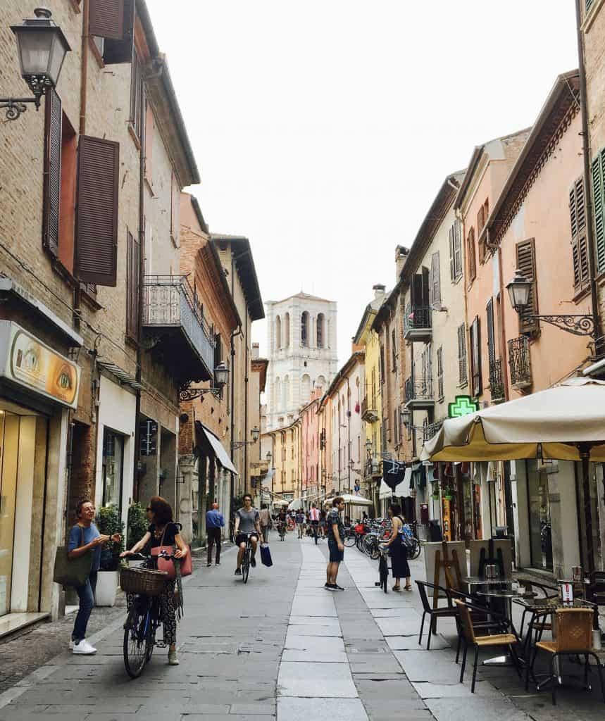 Ferrara city center