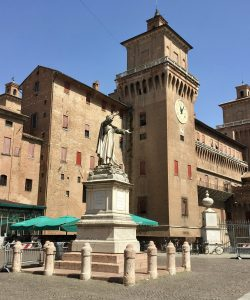 City of Ferrara Castle, visiting Ferrara