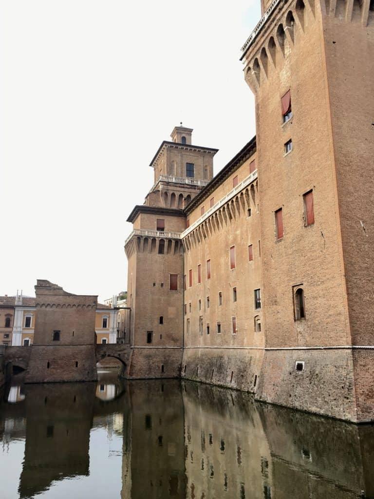 Castello Estense visiting Ferrara