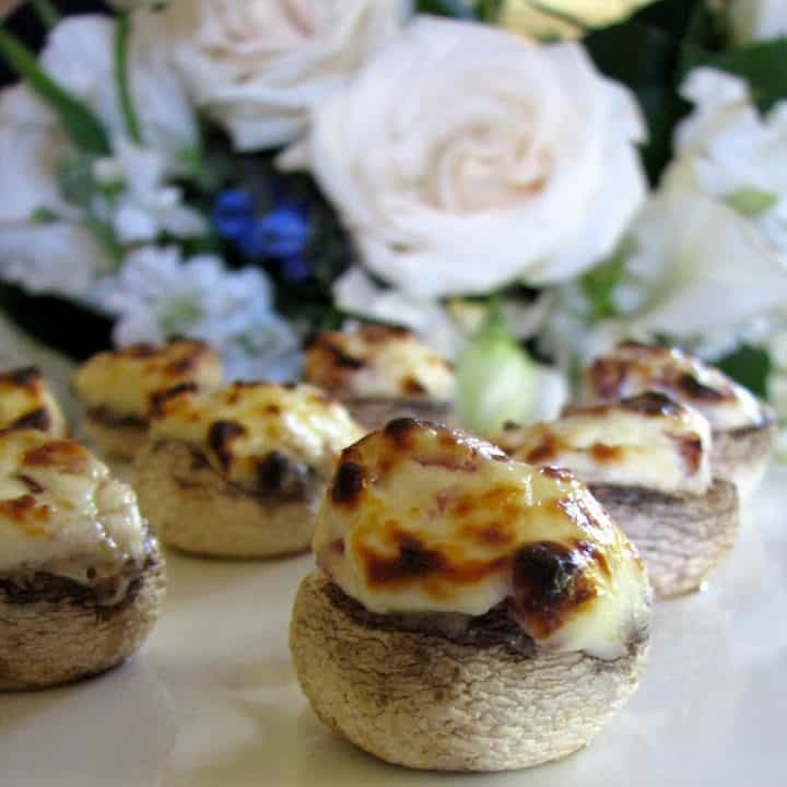 Bacon and Cream Cheese Filled Mushrooms