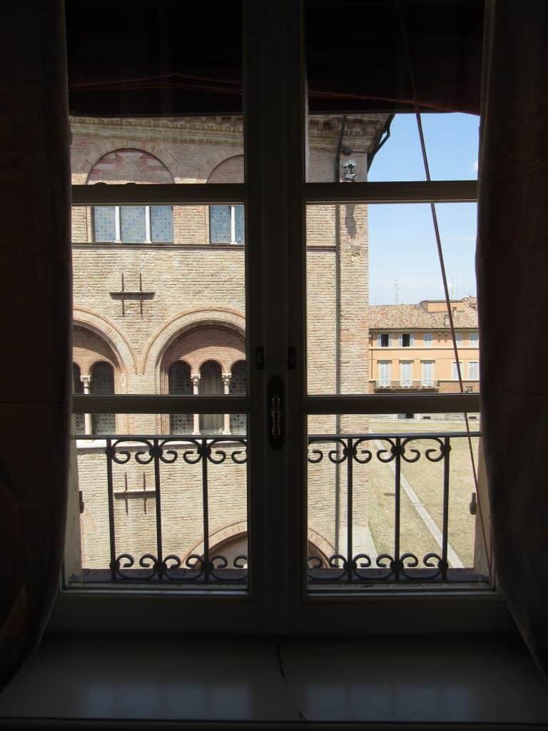 view from Palazzo dalla Rosa Prati