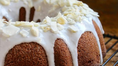 Banana Coconut Bundt Cake with Coconut Icing