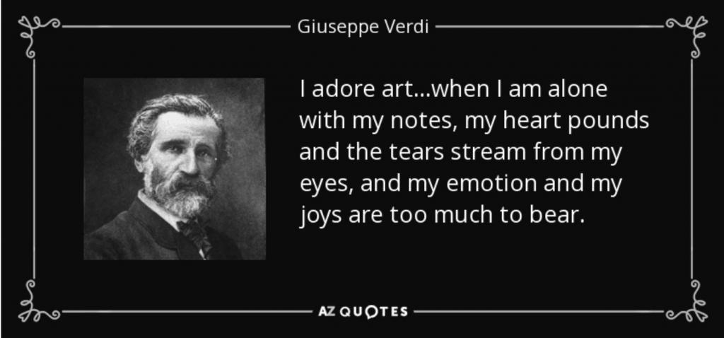 Verdi quote