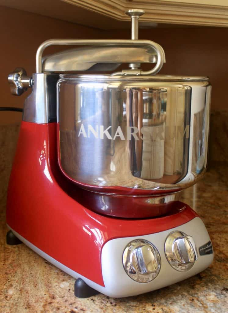 Red Ankarsrum Mixer