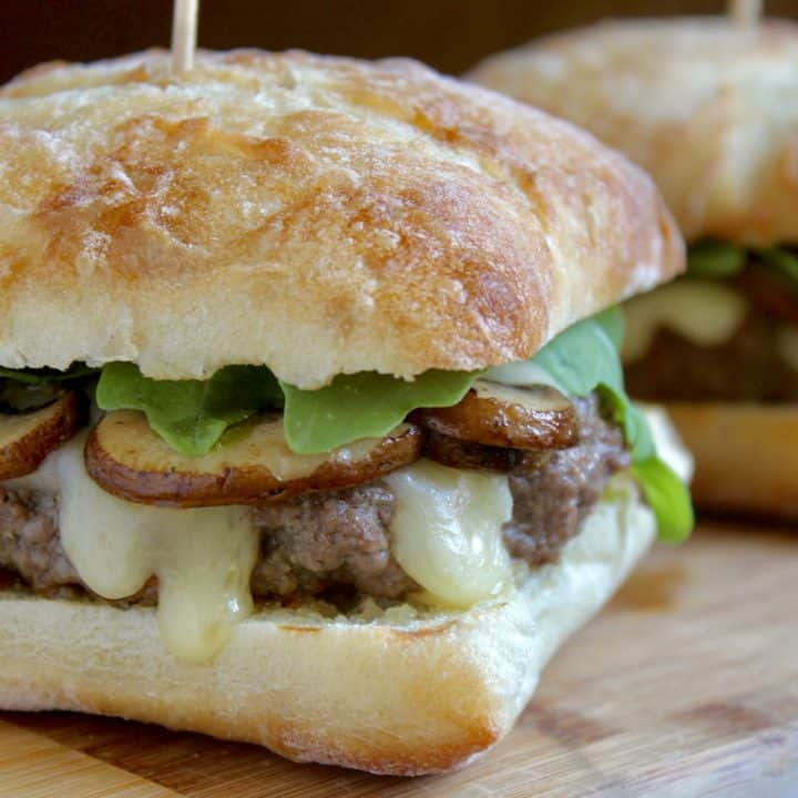brie and truffle burger