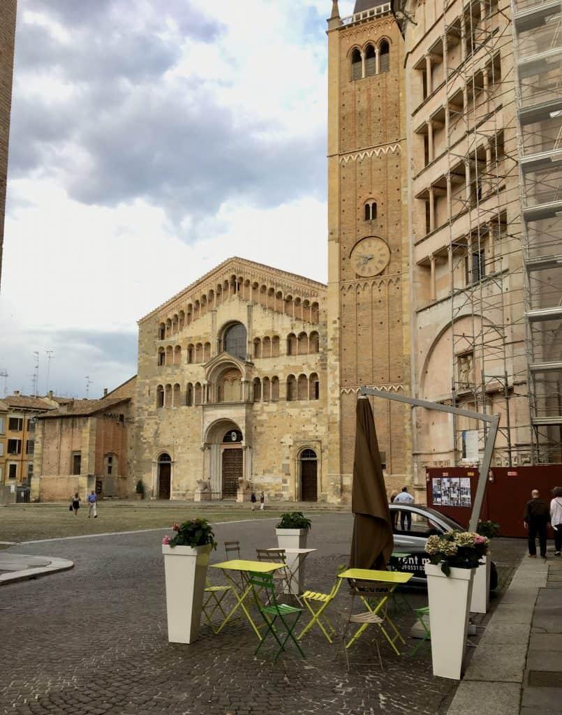 View of Piazza Parma from Palazzo dalla rosa prati