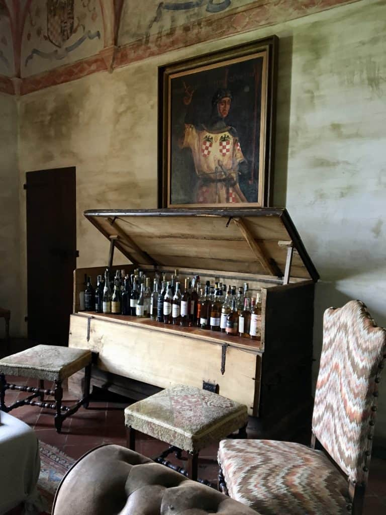 bar at Antica Corte Pallavicina