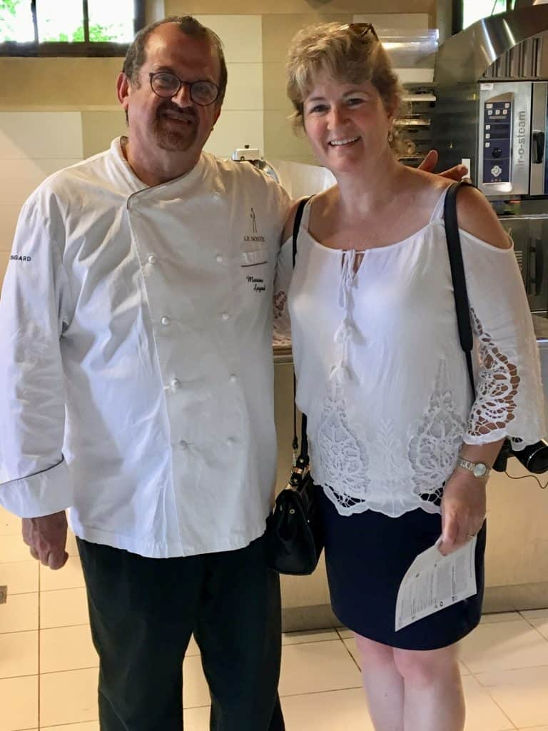 Chef Massimo Spigaroli and me