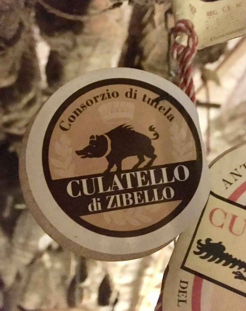 Culatello label at Antica Corte Pallavicina