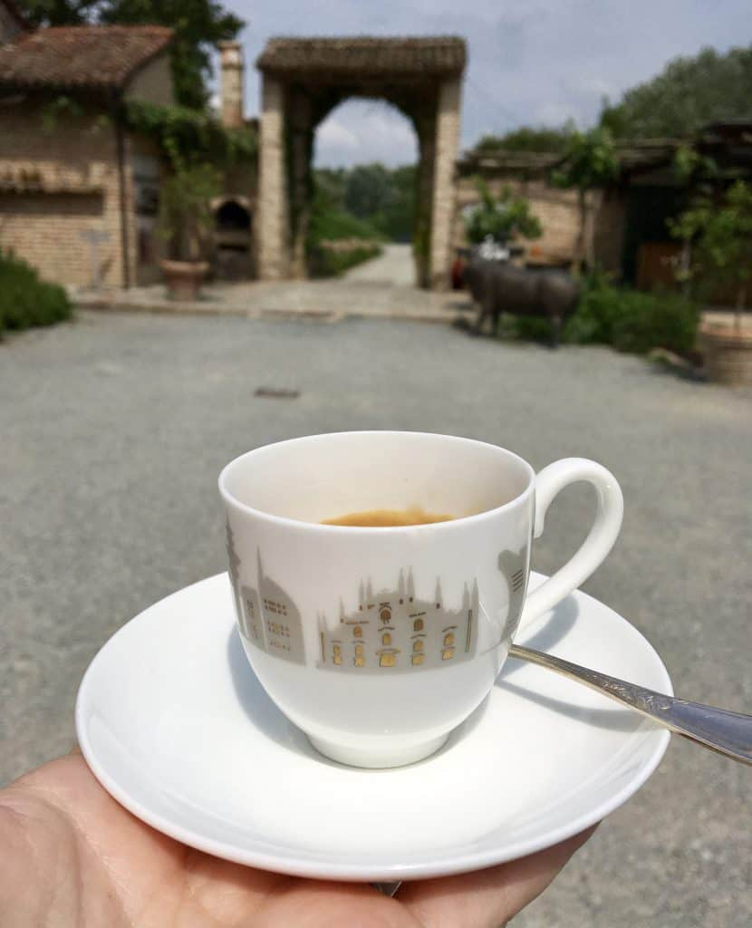 coffee at Antica Corte Pallavicina