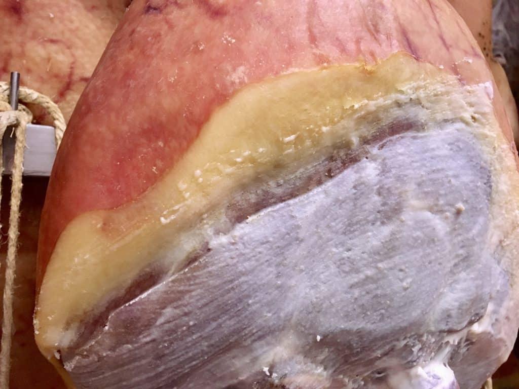 lard coated prosciutto