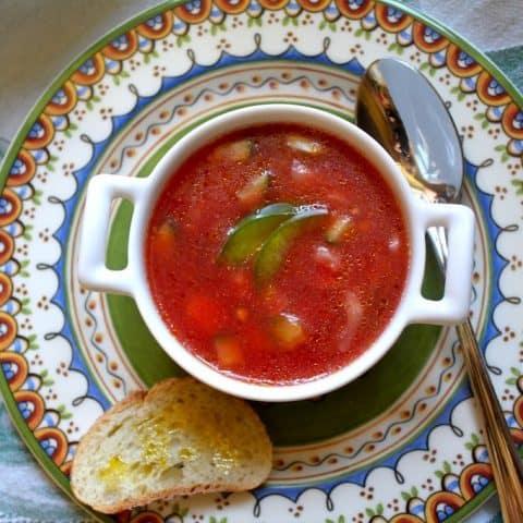 Chunky Gazpacho (Chilled Tomato Soup)