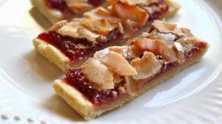 Cran-Raspberry Coconut Slices
