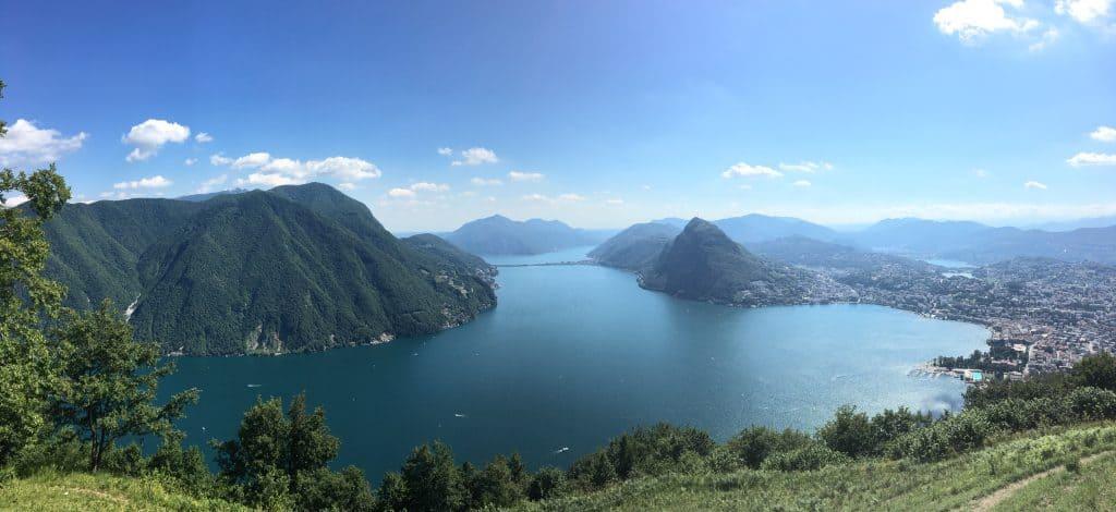 Lake Lugano from Monte Bre