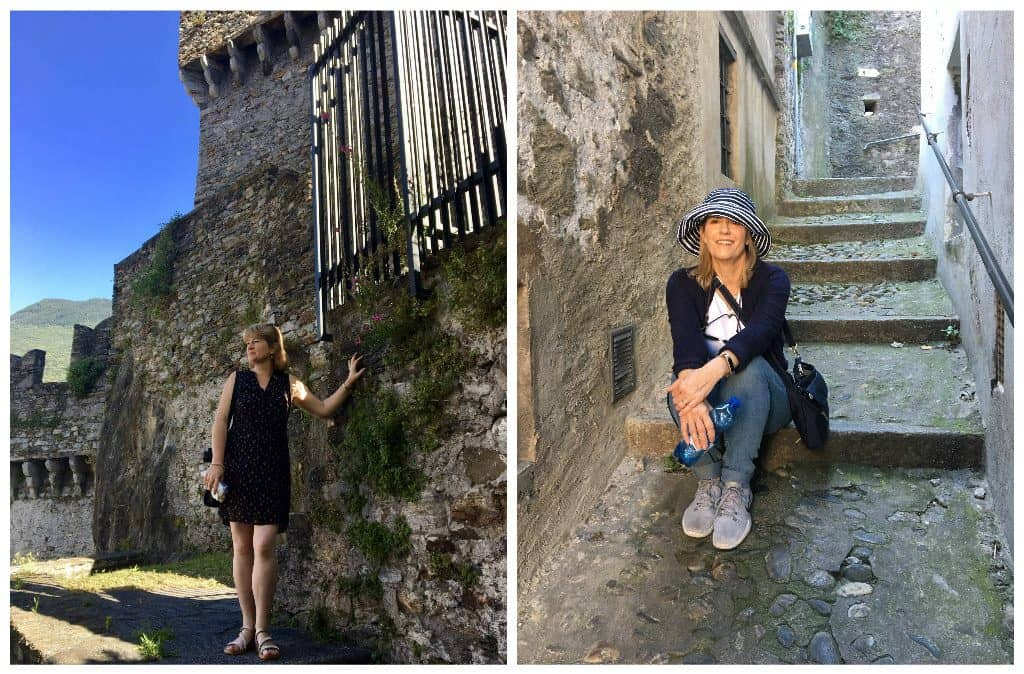Christina and Cynthia in Bellinzona