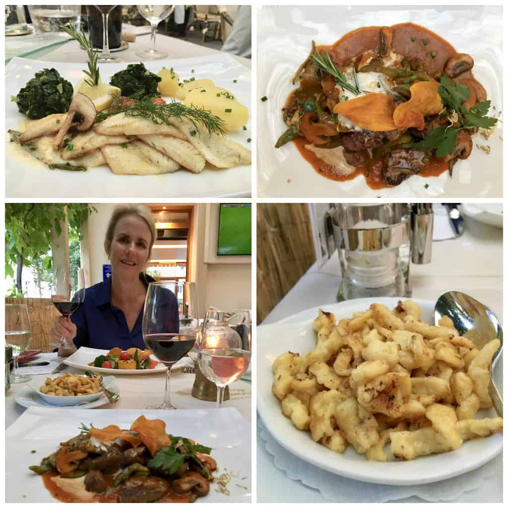Dinner at Brasserie Le Cheminots, Brig