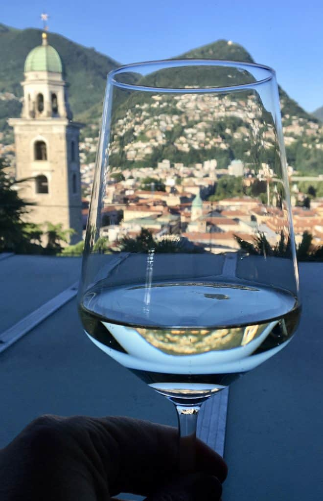 Wine with a view of Lugano