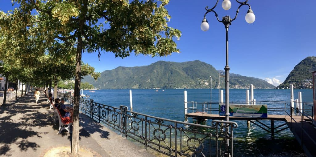 Lake Lugano lakefront (Is Lugano worth visiting?)