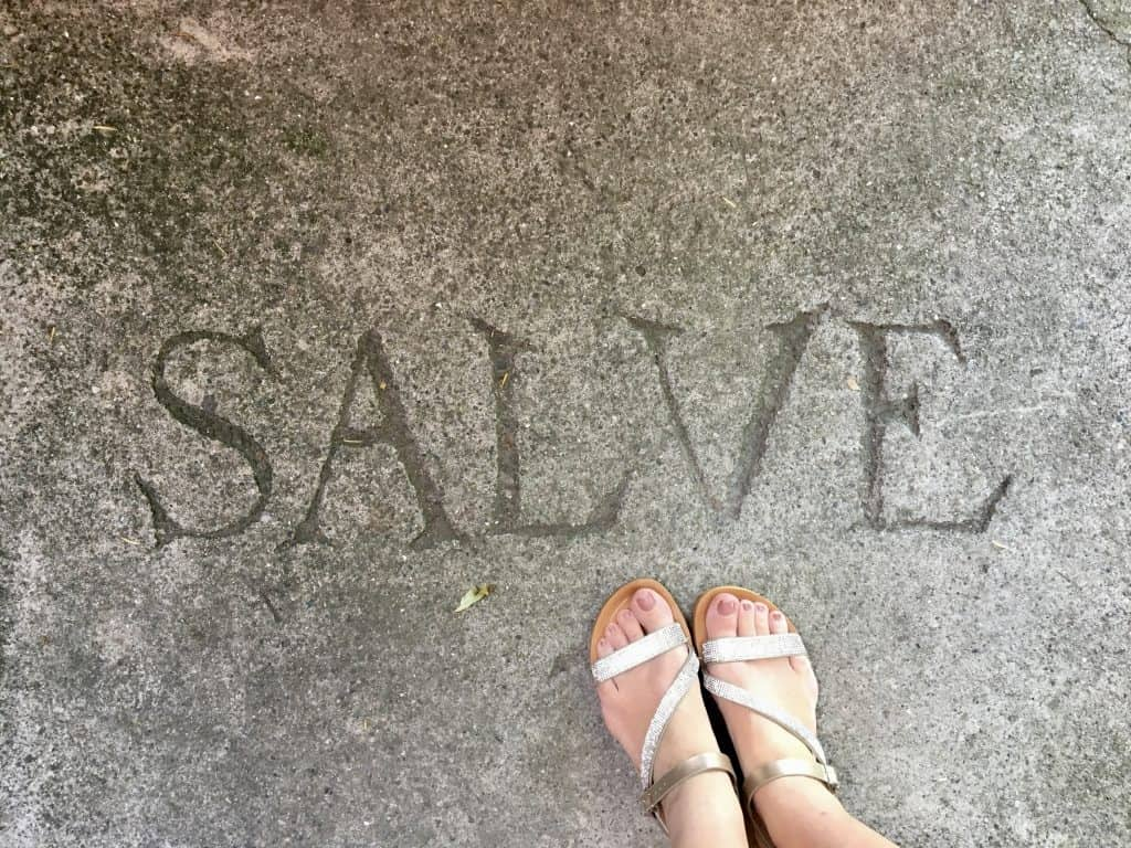 Salve greeting at Grotto Descanso
