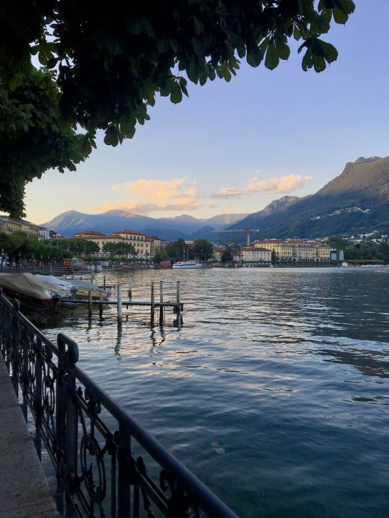 Lugano at dusk