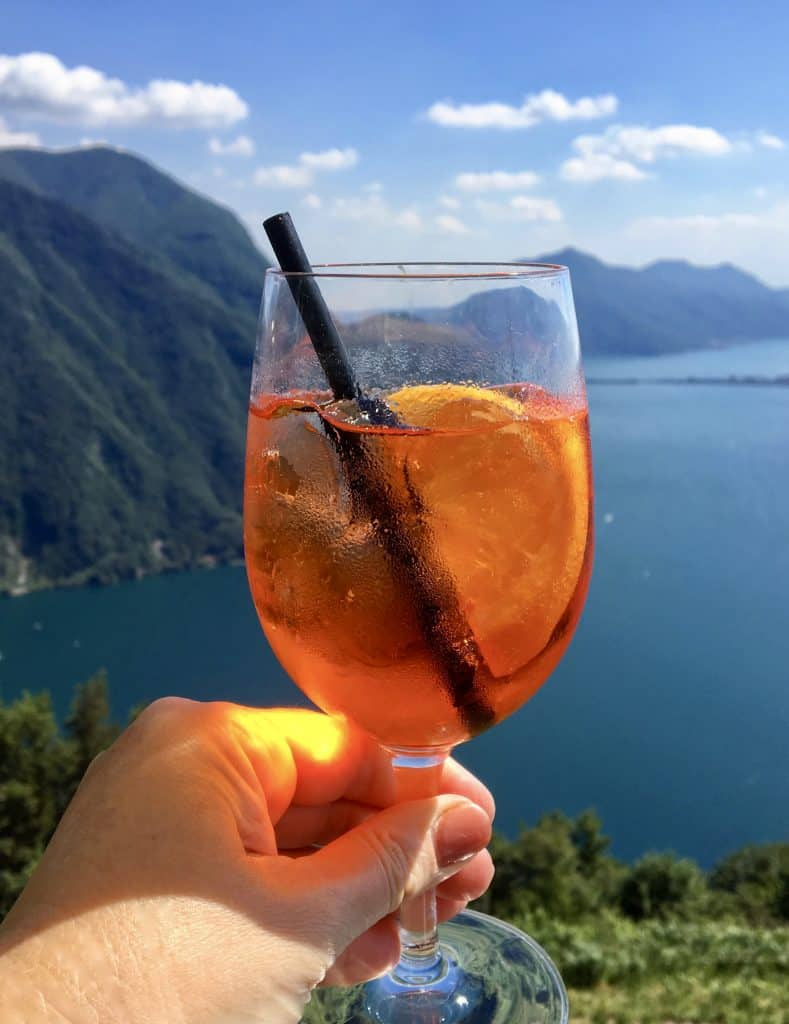 APEROL spritz over Lake Lugano