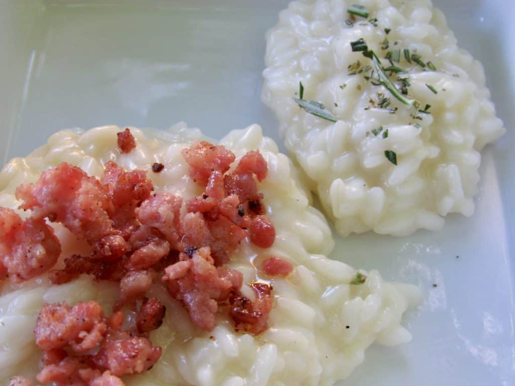 Risotto at Grotto Descanso