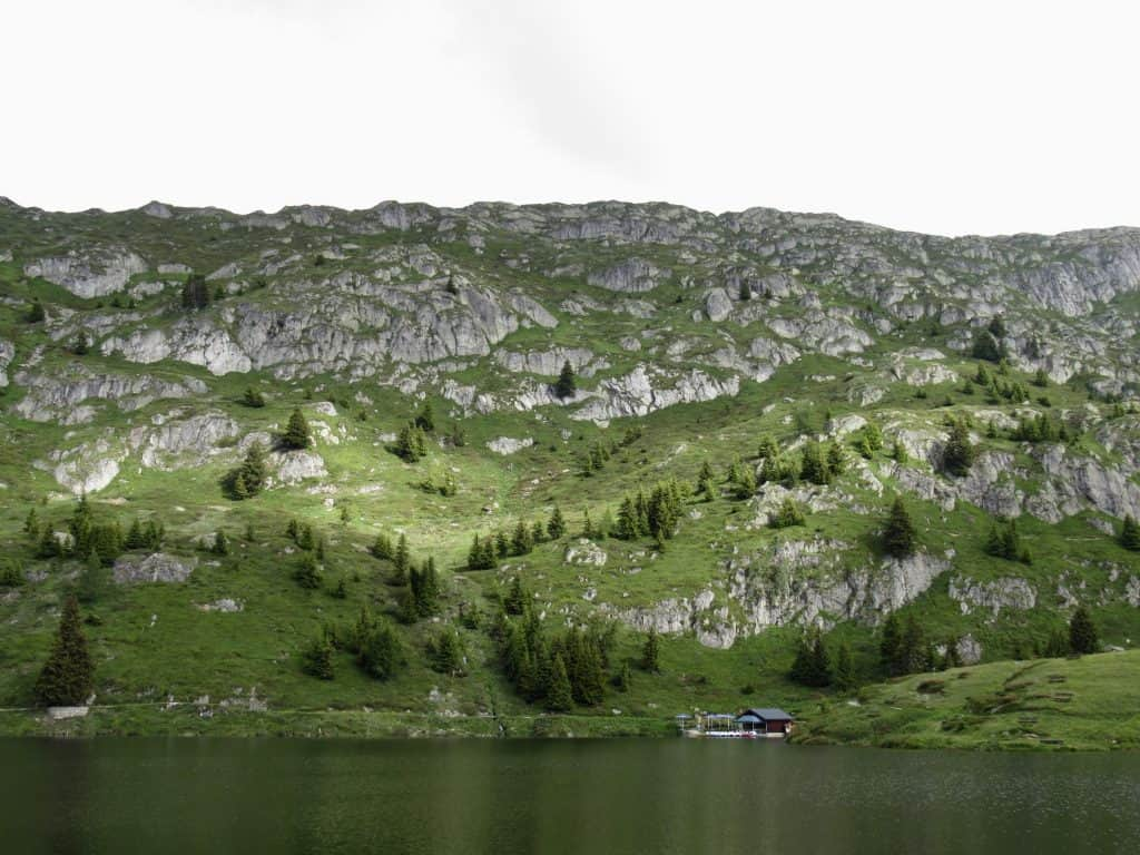 Valais region lake
