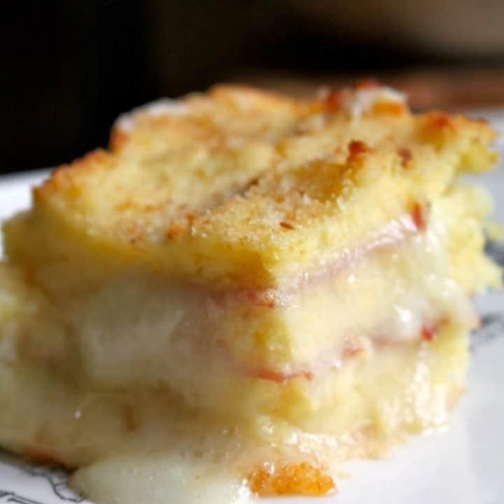 Potato, Ham and Mozzarella Bake: Gattò di Patate (Vegetarian Version too)