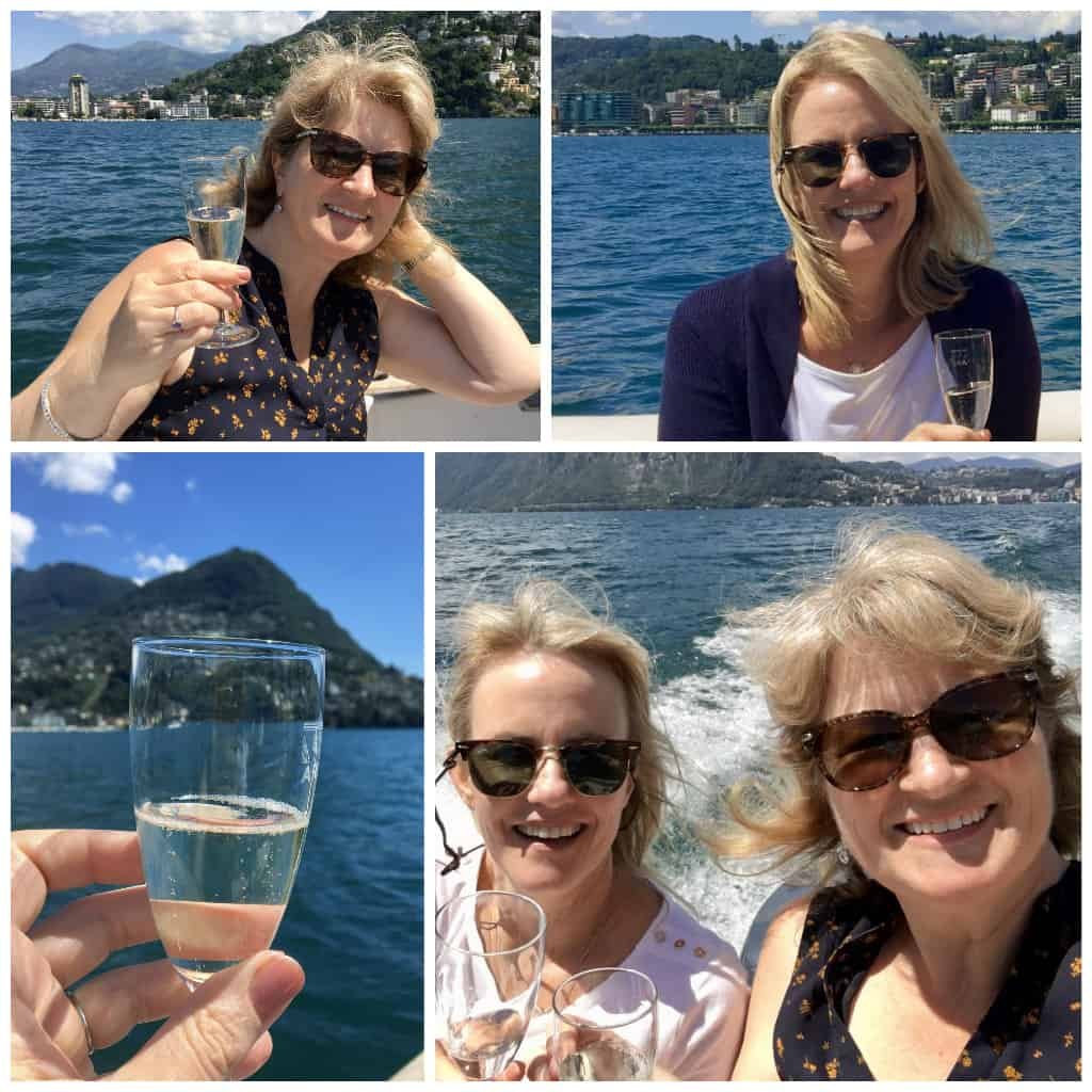 prosecco on lake lugano