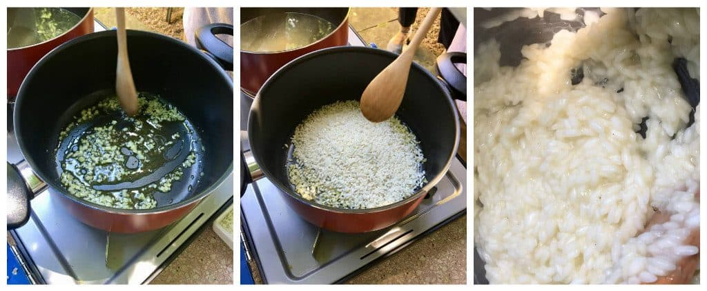 cruise and cook risotto making