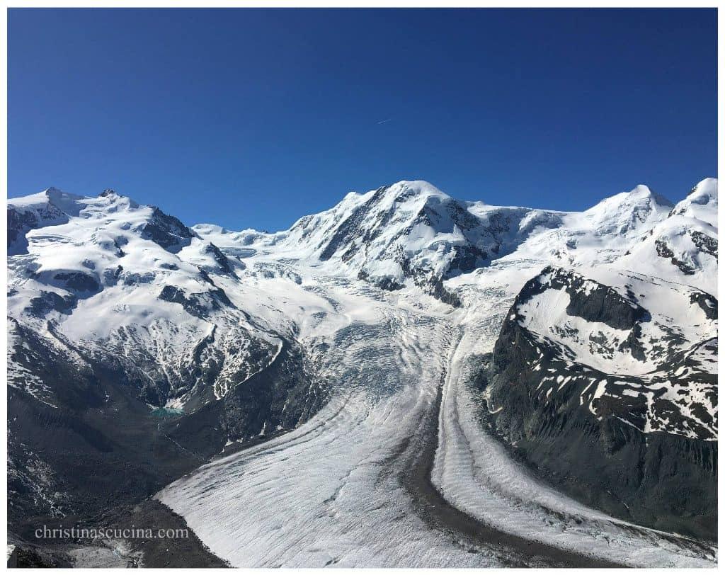 Gorner Glacier view from Gornergrat