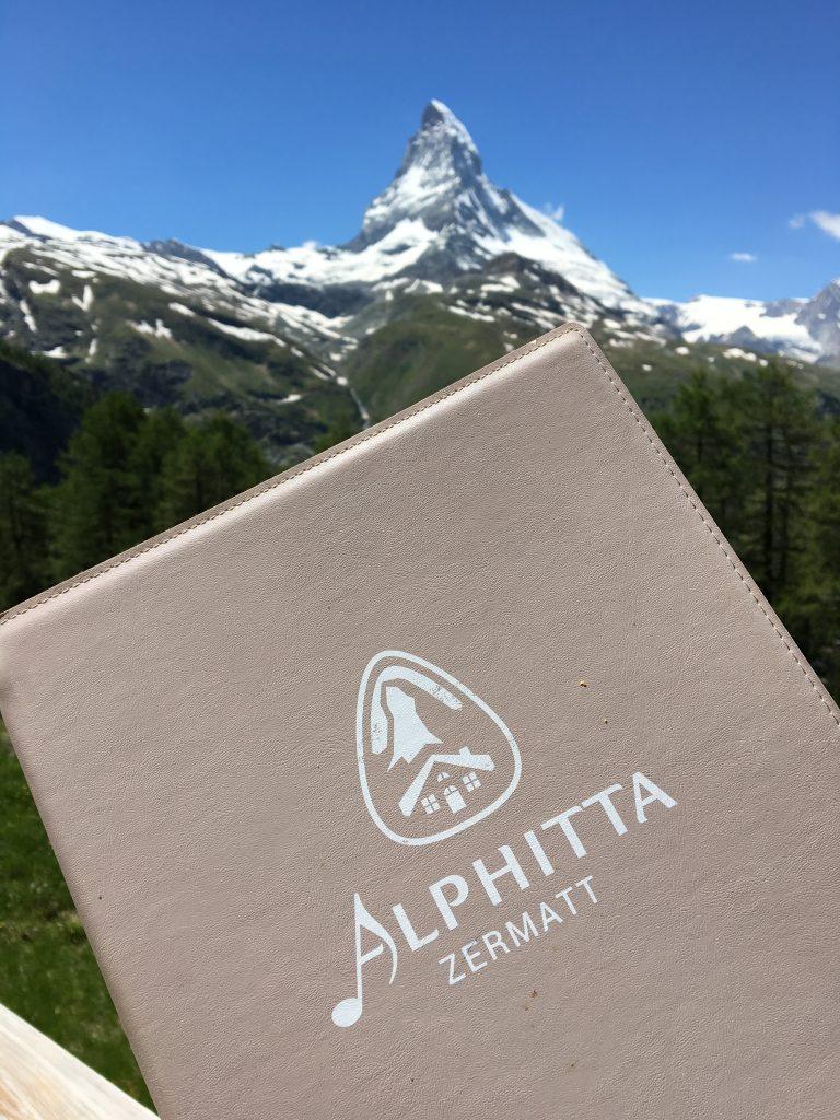 Alphitta menu and the Matterhorn