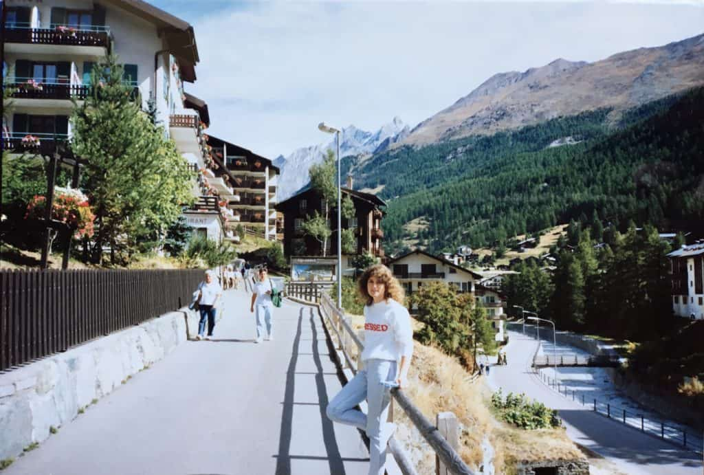 Christina from Christina's Cucina in Zermatt, 1990