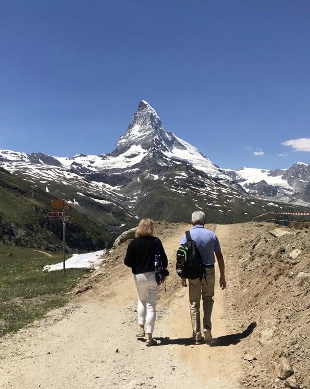 Walking towards the Matterhorn