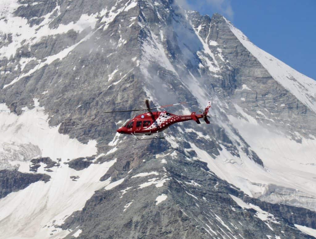 Helicopter tour, Zermatt