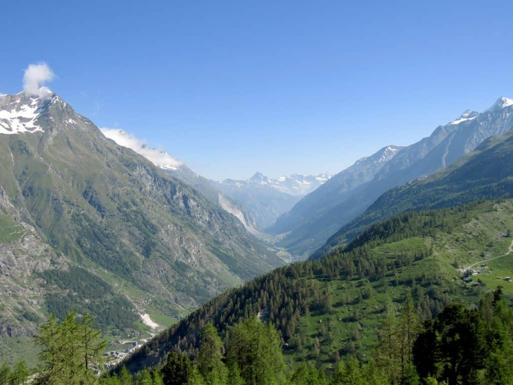 View from Gornergrat Railway