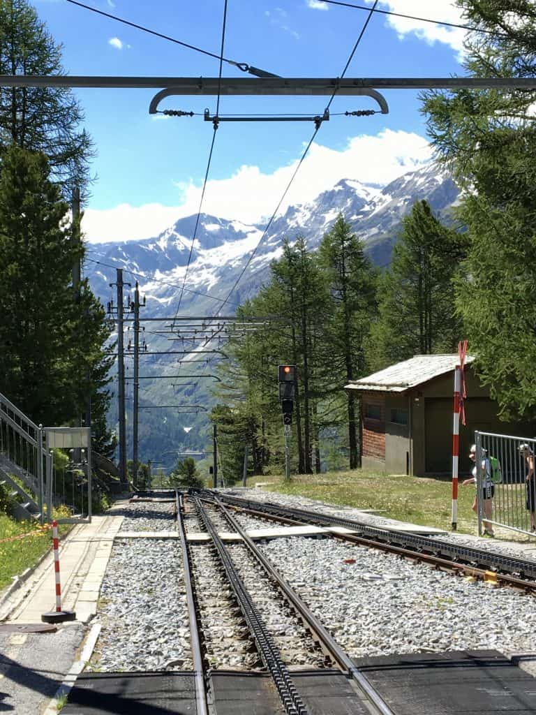 View of Riffelalp station