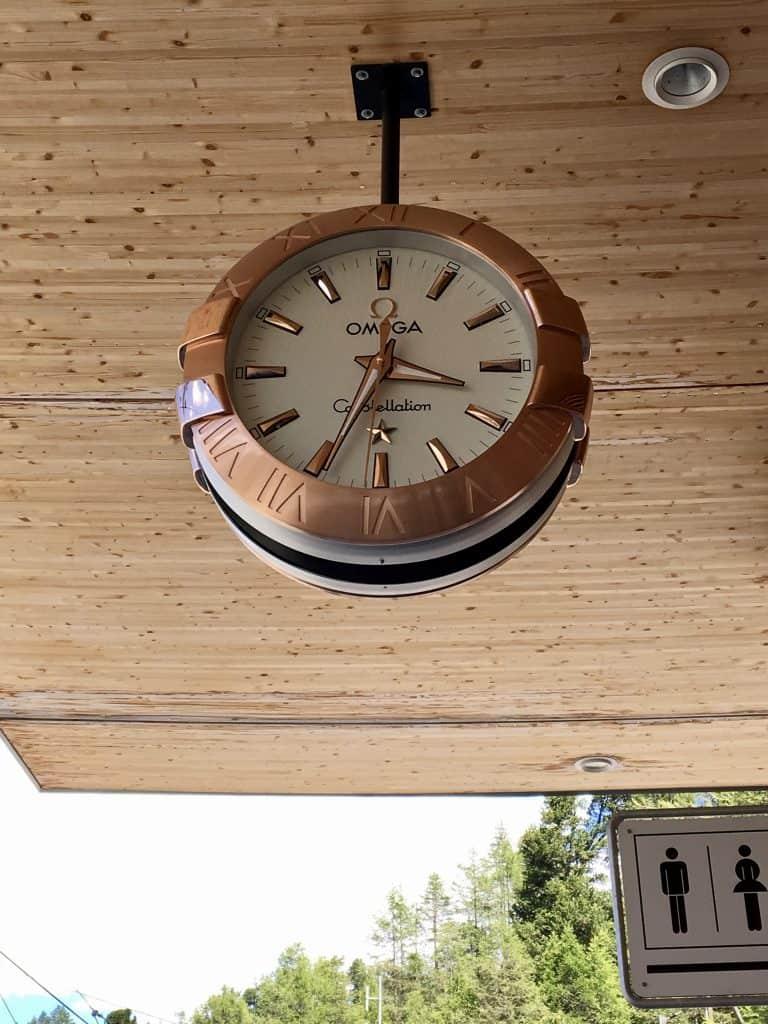 train station Omega clock