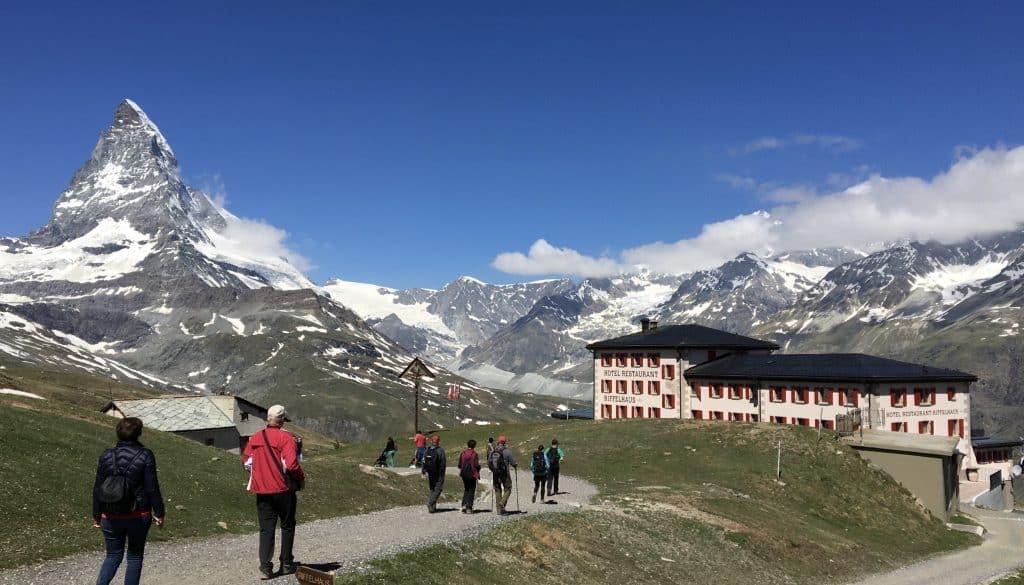 Hiking with a Matterhorn view