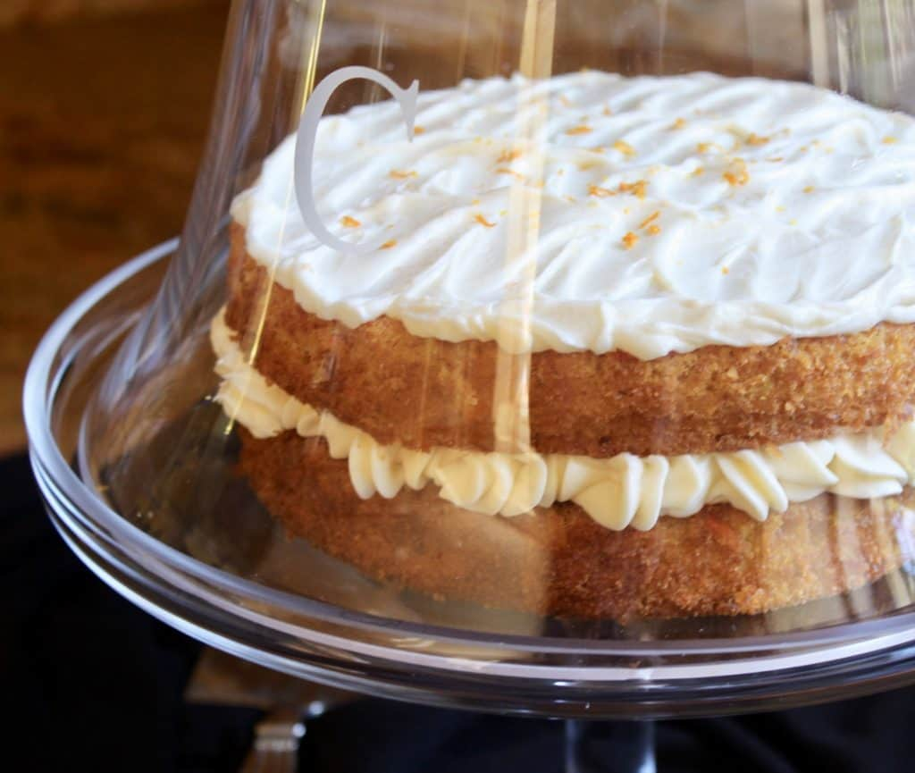 pumpkin cake with Best orange cream cheese frosting