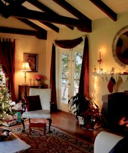 christina's living room at Christmas