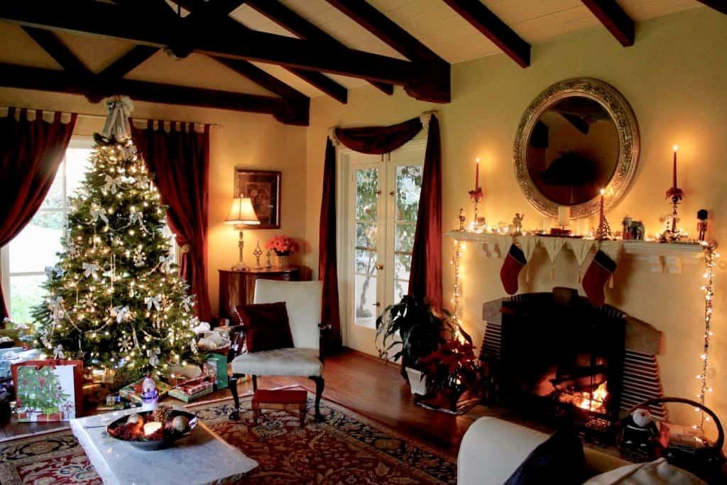 christina's living room at Christmas
