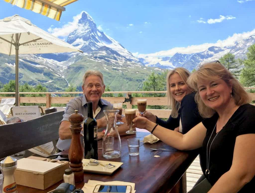 Amadé Perrig with Cynthia Woodman and Christina Conte in Zermatt