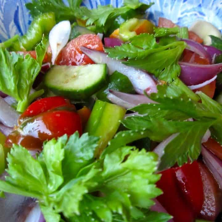 Simple, fresh garden salad