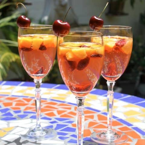 White Wine Summer Sangria Spritzer