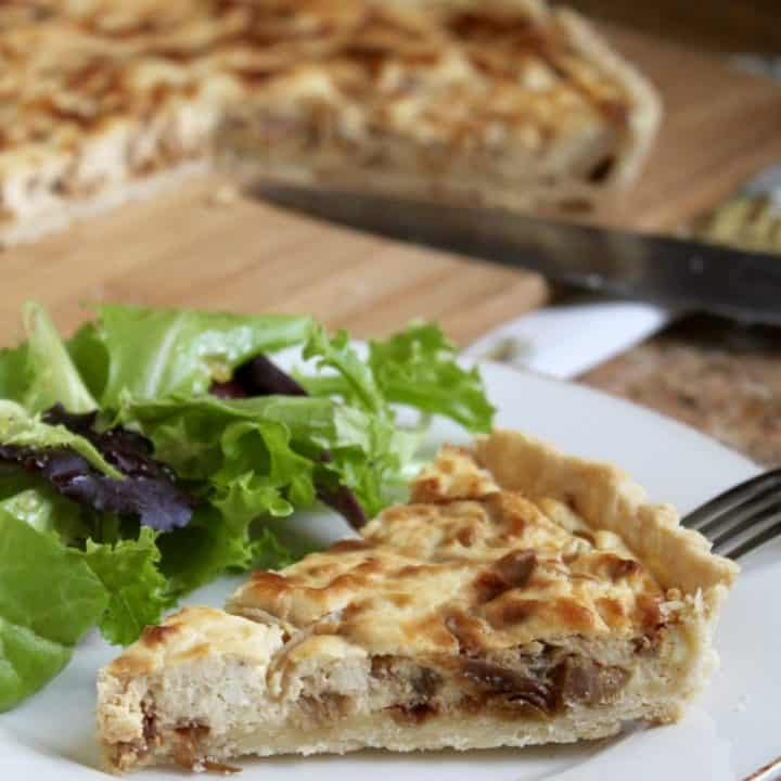 Caramelized Onion (Shallots), Pancetta and Feta Cheese Tart